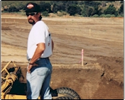 1992 - Jeff Blackmore supervises grading operations under what is now the Pechanga Casino.